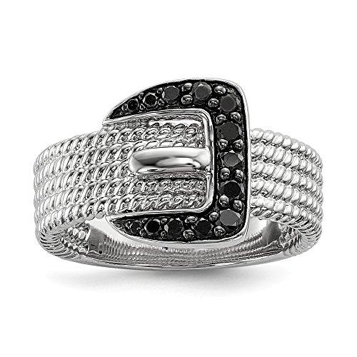 Black Diamond Buckle Ring - 6