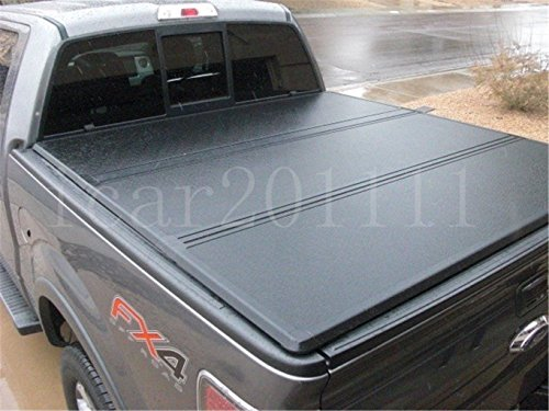 Nova Tonneau Cover, Fit 2004-18 Ford F-150 & 2007-18 Toyota Tundra & 2006-14 Lincoln Mark LT 5.5ft Short Bed Hard Tri-Fold Tonneau Cover,Clamp On No Drill Top Mount with Mounting Hardware ()