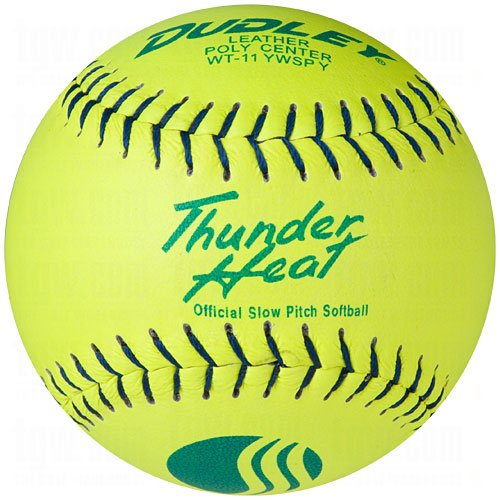 Dudley USSSA Thunder Heat Classic W Stamp Softball - Leather Cover - 12 pack ()