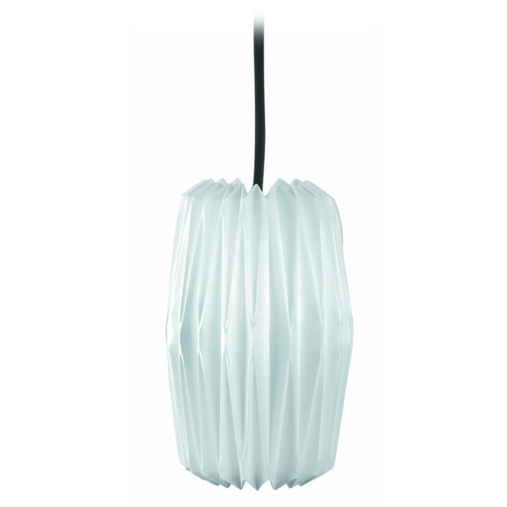 Lite Source LS-1788C//WHT Accordion Pendant Lamp Chrome with Pleated White Shade