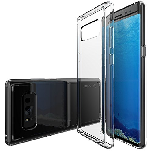 Galaxy Note 8 Case, LUVVITT [Clear View] Hybrid Scratch Resistant Back Cover with Shock Absorbing Bumper for Samsung Galaxy Note 8 Phone (2017) - Clear