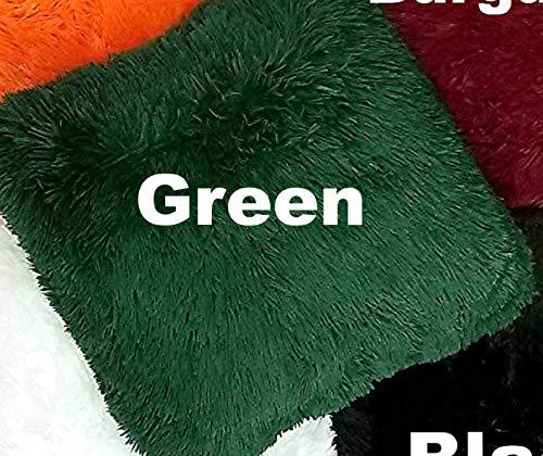 (Empire Home Fashi Kelly Soft Fur Cushion Square Decorative Solid Shaggy Furry Throw Plush Pillow (Green))