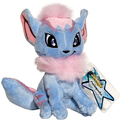 Xweetok Blue and Pink Striped Neopets Collector Species Series 3 Plush with Keyquest Code