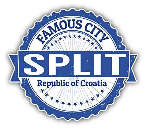 "JJH Inc Split City Croatia Grunge Travel Stamp Vinyl Decal Sticker Waterproof Car Decal Bumper Sticker 5"""