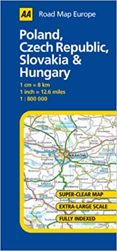 Poland Czech Republic Slovakia And Hungary Aa Road Map Europe