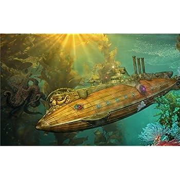 Amazon.com: Tomorrow sunny steampunk punk sci fi vehicles submarine ...