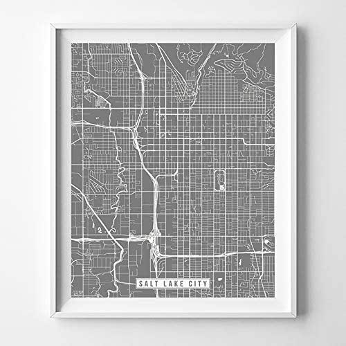 Amazon.com: Salt Lake City Utah City Street Map Wall Art