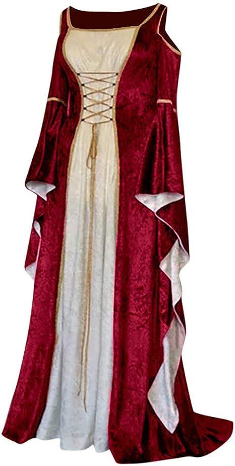 Fossenfeliz Vestido Medieval Mujer de Bruja Reina, Disfraces ...