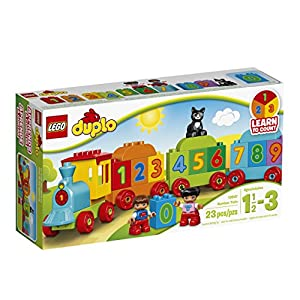 LEGO DUPLO Number Train 10847, Preschool, Pre-Kindergarten, Large Building Block Toys for Toddlers - 51QZRRtTT L - LEGO DUPLO My First Number Train 10847 Learning and Counting Train Set Building Kit and Educational Toy for 2-5 Year Olds (23 pieces)