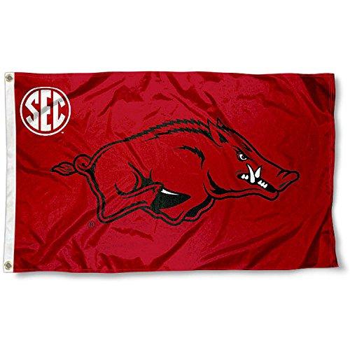as SEC 3x5 Flag (Arkansas Razorbacks Logo Wall)