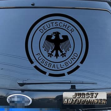 Deutscher fussball bund german football association germany decal sticker car vinyl pick size color die