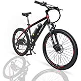 Rattan 26 inch Aluminum Electric Mountain Bike Shimano 7 Speed E-Bike 36V 10.4Ah Lithium Battery 350W Electric Bicycle 26 inch Adult Assisted E-Bike