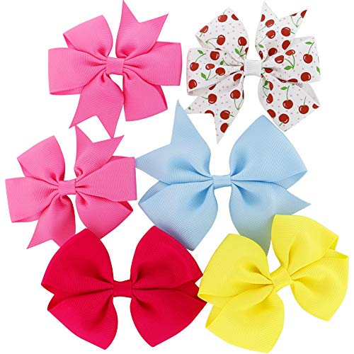 Grosgrain Ribbon Hair Bows Boutique Flowers Clips For Girls Teens Kids Toddlers Set Of 40 by Myamy (Image #3)