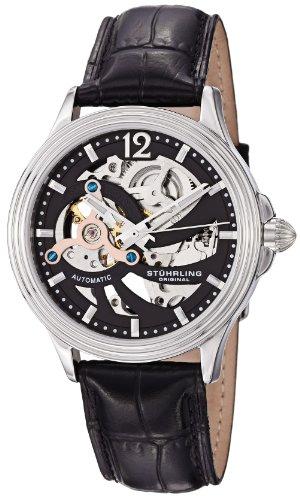 Stuhrling Original Men's 170.33151 Classic Delphi Helix Automatic Skeleton Black Watch