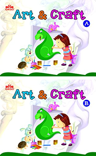 Gikso Combo of Art and Craft A and B for Kids Age 3-7 Years Old Set of 2 Colouring Books