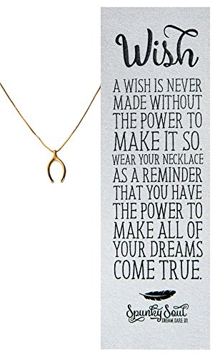 Wishbone Gold Plated Pendant Necklace