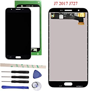 """Draxlgon Tested LCD Display Touch Screen Digitizer Assembly for Galaxy J7 Prime 2017 J727 J727U SM-J727T SM-J727T1 J727R4 J727V J727P Sky Pro SM-J727A SM-J727VL J7 2017 Perx J727PZKASPR 5.5"""" (Black)"""
