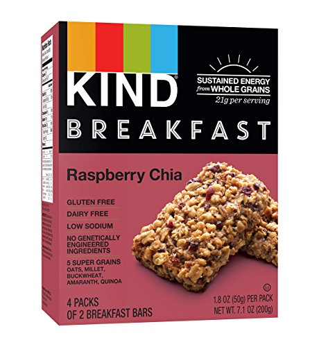 Raspberry Bar (KIND Breakfast Bars, Raspberry Chia, Gluten Free, 1.8 Ounce, 32 Count )