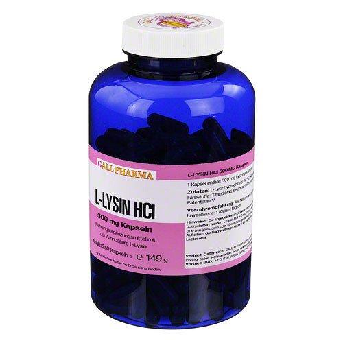 L-LYSIN 500 mg Kapseln 250 St Kapseln
