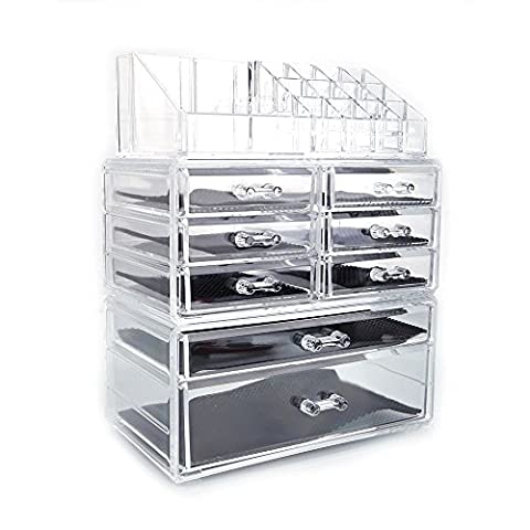 luckybuy168 Acrylic Cosmetic Organizer Makeup Case Holder Drawers Jewelry Storage Box - Optimal Seven Drawer