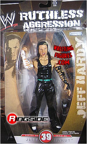 WWE Wrestling Ruthless Aggression Series 39 Action Figure Jeff Hardy by Jakks Pacific