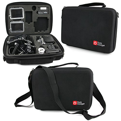 DURAGADGET GoPro HERO4   HERO3+   HERO3   HERO Case - Black Armoured  Protective Storage Case   Bag with Shock-Absorbing Custom-designed 43cd12fc203c5