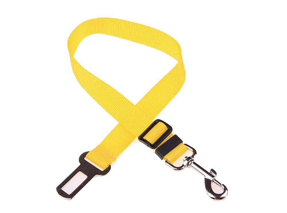 Hosaire Cinturó n de Seguridad para Perros, Cinturó n Ajustable de Nylon para Trasportar Mascotas de Viajes Cinturó n de Perros de Asiento de Coche Color Negro