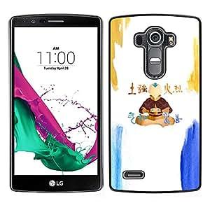A-type Arte & diseño plástico duro Fundas Cover Cubre Hard Case Cover para LG G4 (Airbender)