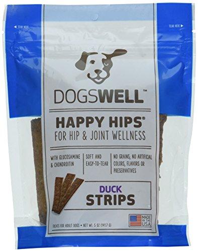 Happy Hips Duck Jerky Strip Dog Treat, 5-Ounce