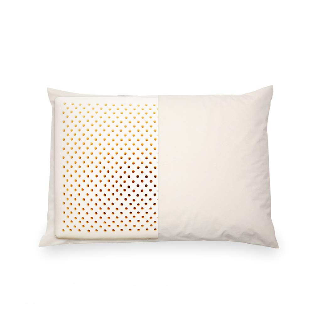 Nosterappou Comfortable and Breathable Natural Latex Pillow with Cervical Pillow, Soft Touch and high Resilience