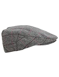 Universal Textiles Mens Traditional Lined Flat Cap