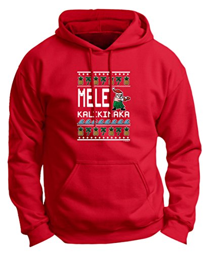 Ugly Christmas Sweater Mele Kalikimaka Hawaiian Hoodie