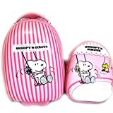 + abs suitcase backpack 'Snoopy' pink (41 cm (0.00'') ).
