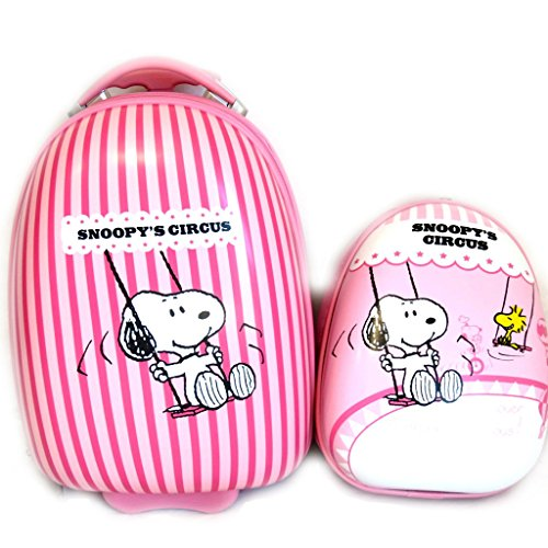 + abs suitcase backpack 'Snoopy' pink (41 cm (0.00'') ). by Snoopy