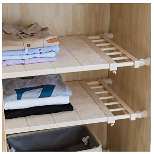 APSOONSELL Adjustable Shelf Closet Storage Rack Organizer, Expandable Closet Shelf Space Saver Racks for Kitchen Cupboard Wardrobe Bookcase