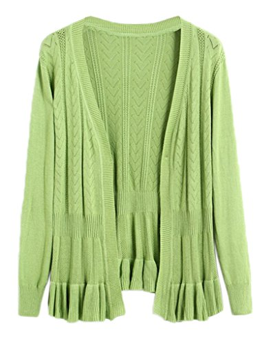 Cardigan Tricot Pull Uni Pour YKK Vert Blouson Femme Manteau Printemps Smile Automne SUEat