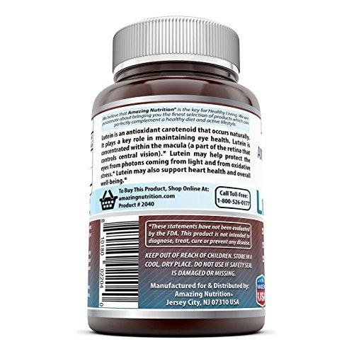 Amazing Nutrition Amazing Formulas Lutein 20 mg with Zeaxanthin 800 mcg- 240 Softgels- Supports Eye Health & Healthy Vision by Amazing Nutrition (Image #2)