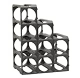 how to build wine racks Stakrax - Stackable, Modular Wine Rack - 12 Bottle Set
