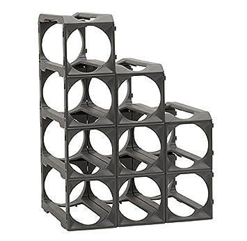 Stakrax – Stackable, Modular Wine Rack – 12 Bottle Set