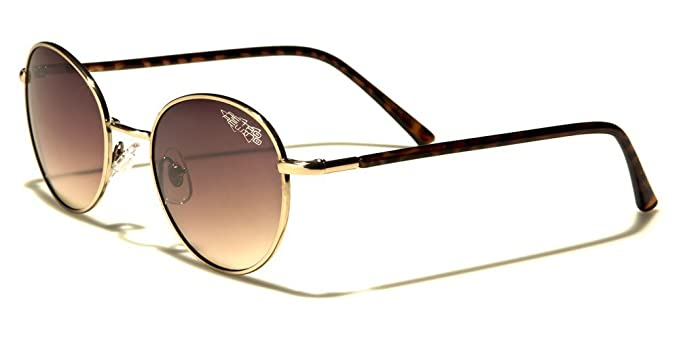 New Retro Rewind Men Women Round Classic Sunglasses Mirrored UV400 Free Pouch