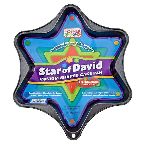 Star Cake Of David (The Kosher Cook KCBW0011 Novelty Cake Pan, Star of David, Non Stick, 1-Piece)