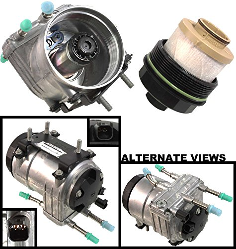 APDTY 112774 Fuel Filter Conditioning Complete Housing Module (Horizontal Frame Mounted) Fits 2003-2007 Ford 6.0L Diesel Trucks (Replaces Ford 6C3Z-9G282-C, 6C3Z9G282C, PFB101)