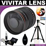 Vivitar 800mm f/8.0 Series 1 Multi-Coated Mirror Lens + Vivitar Tripod + Vivitar Cleaning Kit For The Olympus Evolt E-30, E-300, E-330, E-410, E-420, E-450, E-500, E-510, E-520, E-620, E-1, E-3 Digital SLR Cameras