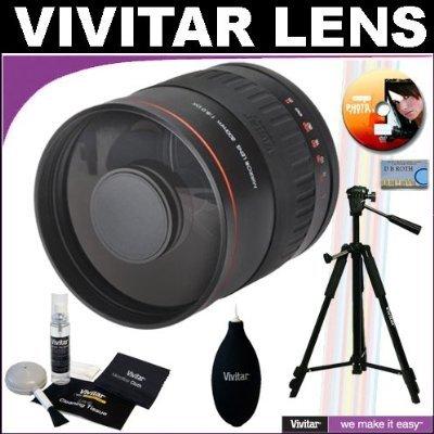 Vivitar 800mm f/8.0 Series 1 Multi-Coated Mirror Lens + Vivitar Tripod + Vivitar Cleaning Kit For The Olympus Evolt E-30, E-300, E-330, E-410, E-420, E-450, E-500, E-510, E-520, E-620, E-1, E-3 Digital SLR Cameras by Vivitar