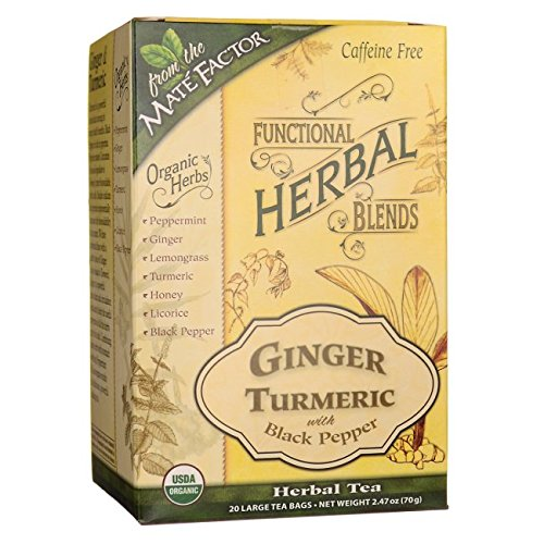 Mate Factor Functional Herbal Blends - Ginger Turmeric with Black Pepper 20 Bag(S)