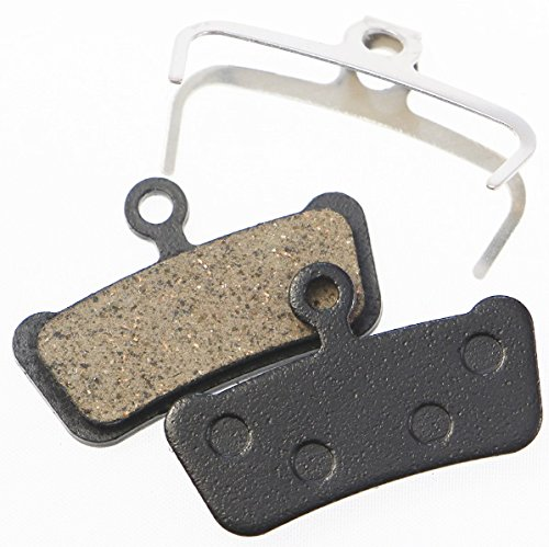 Juscycling Replacement Resin Organic Semi-Metal Brake Pads fit for Sram Avid Elixir Trail, X0 Trail, Elixir 7 Trail, Elixir 9 Trail, Guide, Guide R, Guide RS, XOTR-M, XOTR-O, XOTR-O-AL