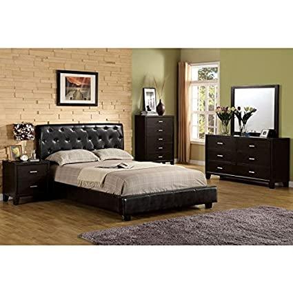 Concord Contemporary Style Espresso Finish Eastern King Size 6 Piece  Bedroom Set