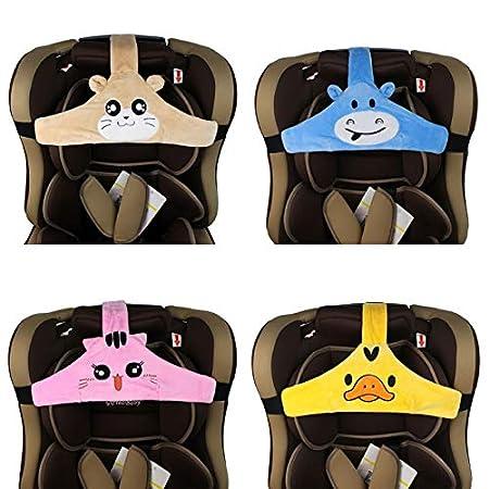 Blau Kindersitz Befestigung Kopfband Einstellbare Baby Kopfst/ützgurt Kopfst/ützhalter Sicherheitssitz Befestigungsgurt f/ür Kinder Baby Feelairy Baby Autositz Kopfband