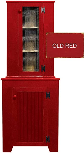 Kitchen Corner Hutch Set (Old Red)