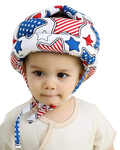 Chengfengup Baby Infant Toddler Child Safety Helmet Headguard Hat Adjustable Protective Harnesses Cap, Star